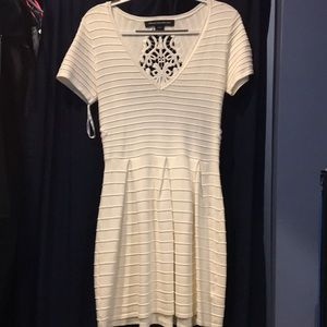 French connection, knit dress, off white